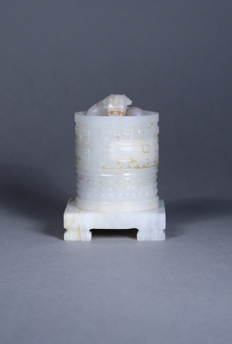188: 18th C. Qing Dynasty Imperial White Jade Seal