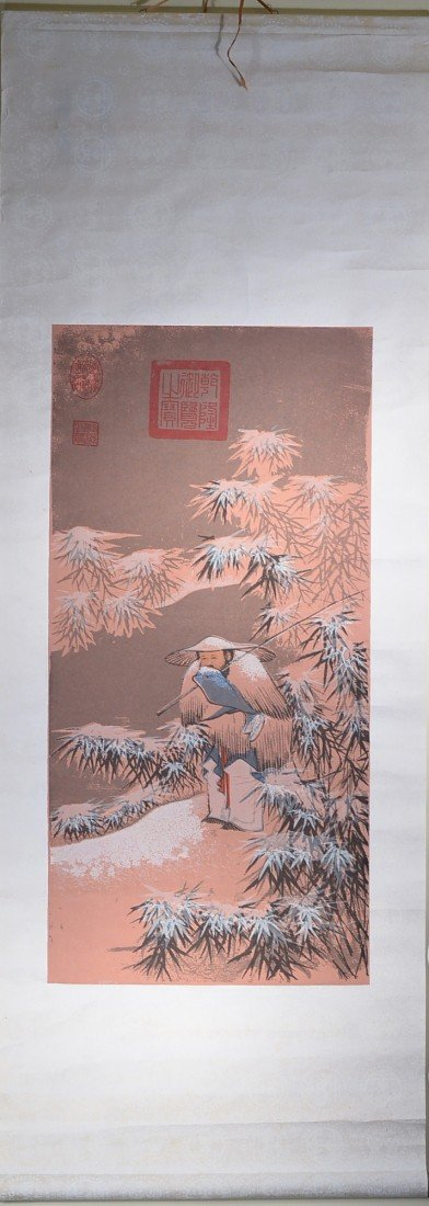 20: Chinese Watercolour: Fishing on a Snowy Day