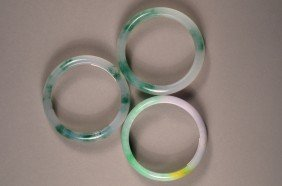 Set Of 3: Jade Bangles