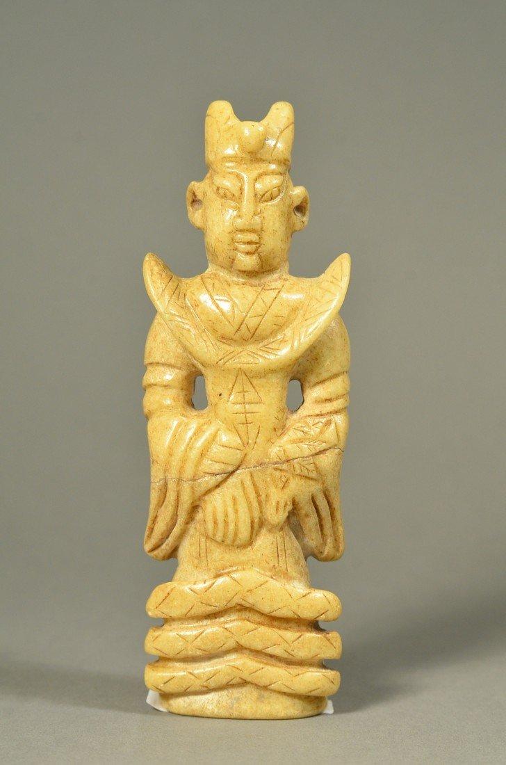 116: Chinese Tang Period Yellow White Jade Figure