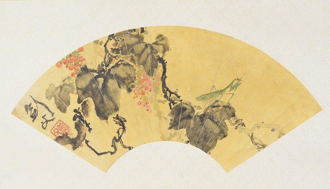 11: Gao Jian Fu (1879-1951) Chinese Fan Painting