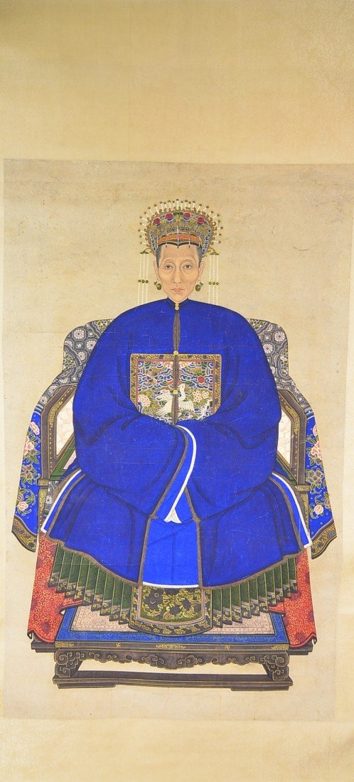 19: Qing Period Watercolour Painting Hanging Scroll