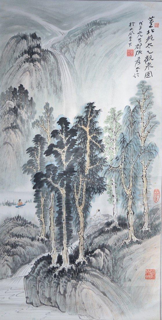 22: Chinese Watercolour: Landscape & Waterfall