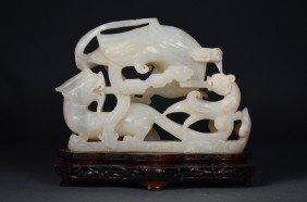 Han Style 17th/18th C. Chinese Hetian White Jade