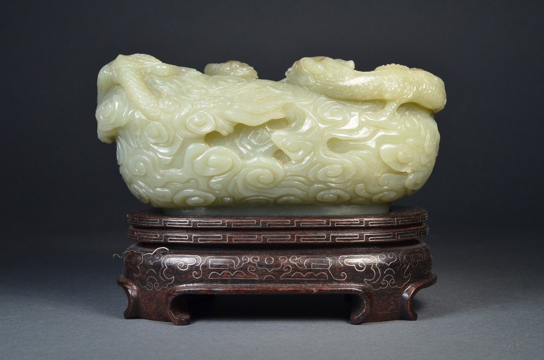 177: 19th Century Chinese Carved Jade Brushwasher