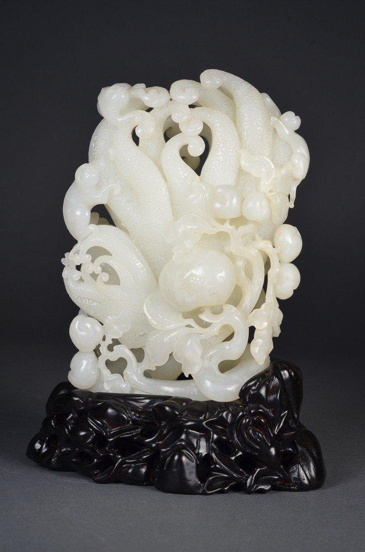 180: Chinese Carved Jade Buddha Hand Citron
