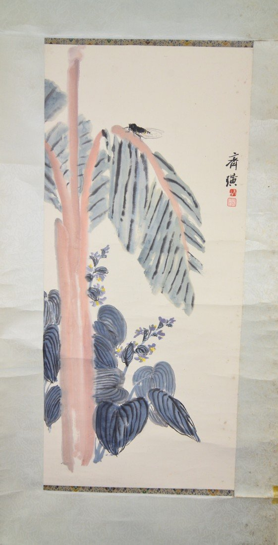 21: Chinese Watercolour Painting Hanging Scroll