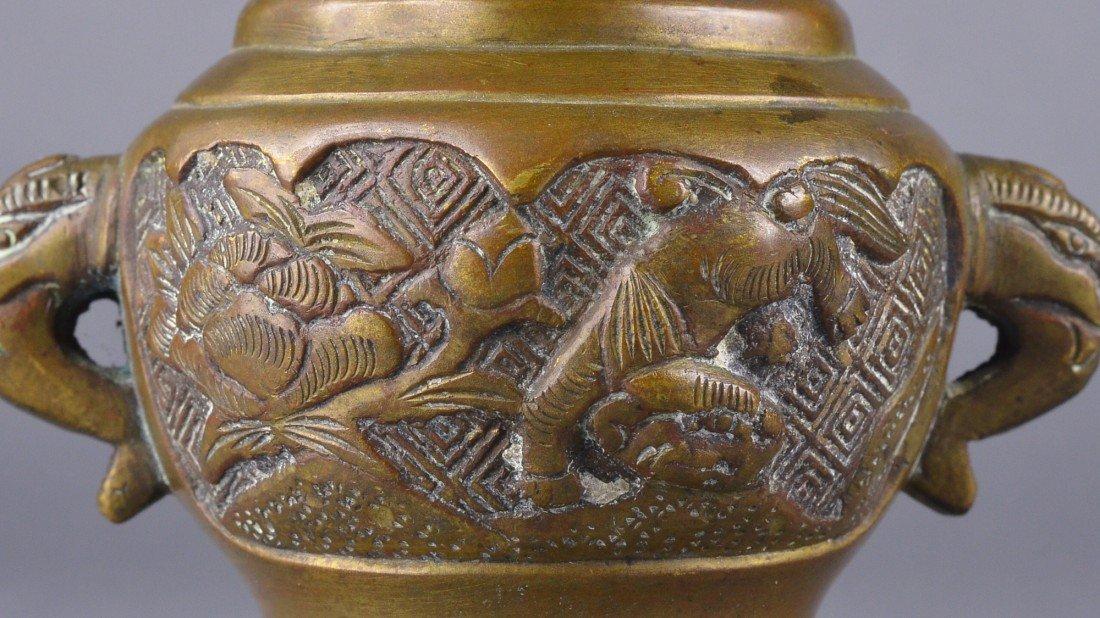 258: Chinese Bronze Censer - 2