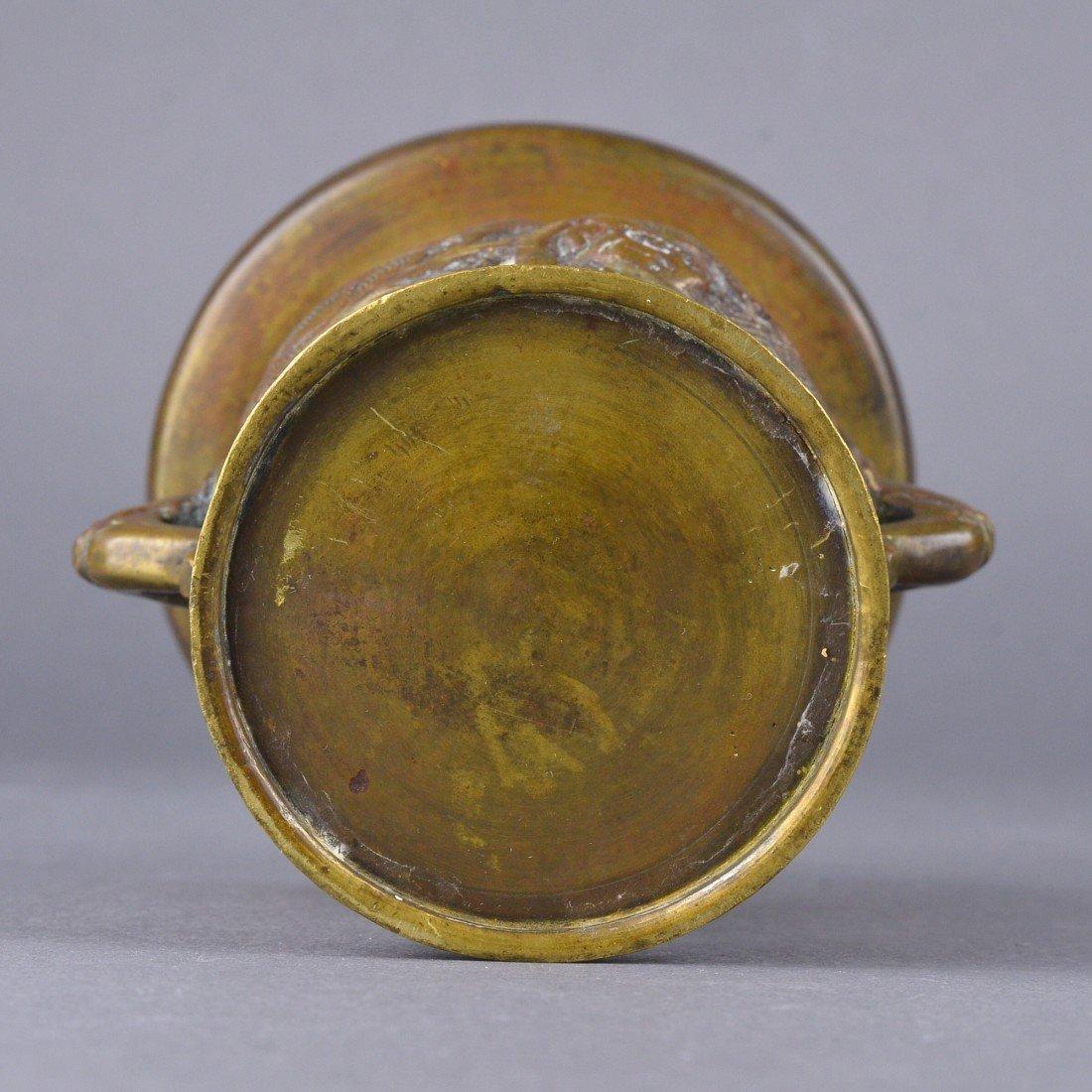 258: Chinese Bronze Censer - 5