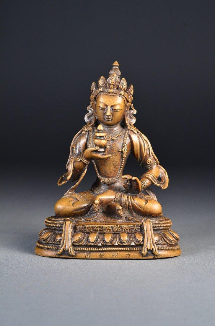 263: 18th C. Qianlong Period Gilt Bronze Amitayus