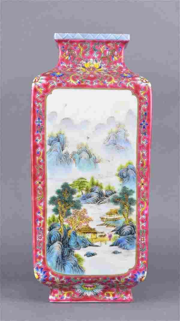 Chinese Republic Period Enamel Porcelain Vase