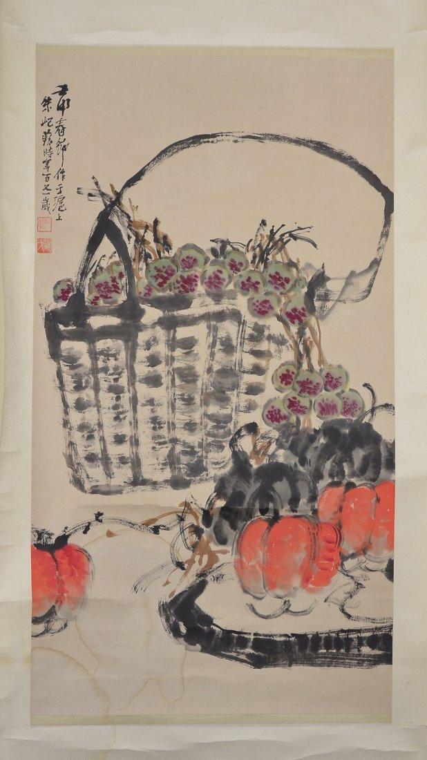 21: Chinese Watercolour Painting Signed Zhu Jizhan