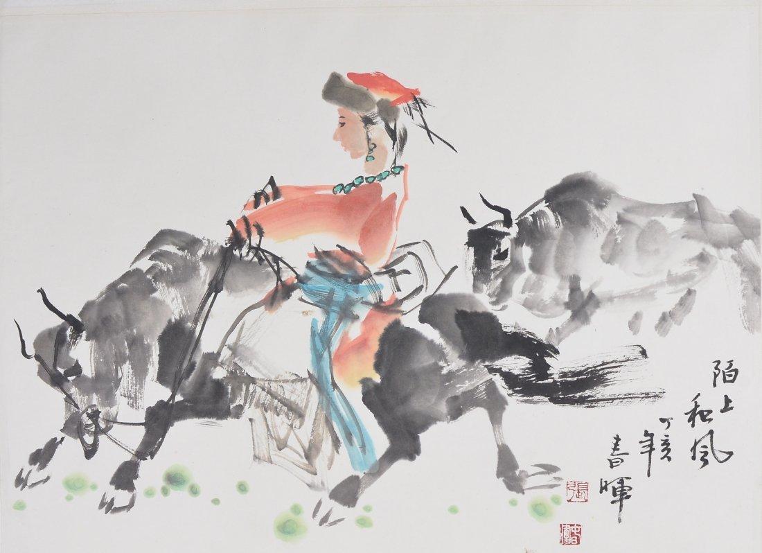 22: Chinese Watercolour Painting Zhang Chun Fei 1954-
