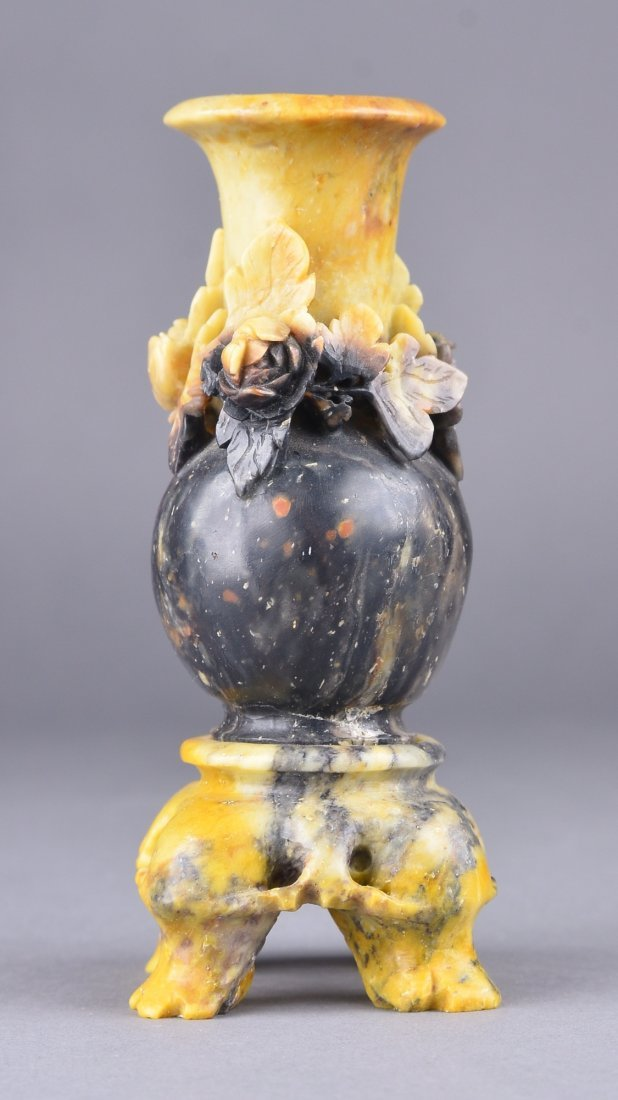140: Chinese Carved Soapstone Vase