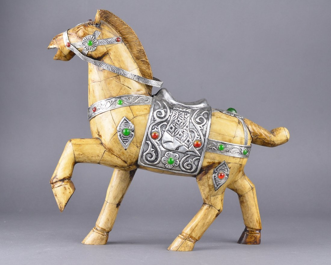 177: Chinese Bone Carved Model of Horse