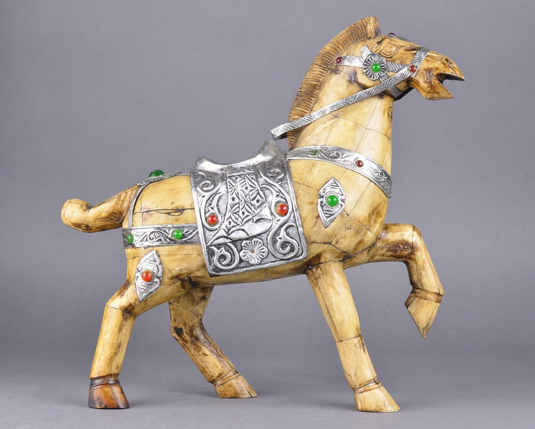 177: Chinese Bone Carved Model of Horse - 2