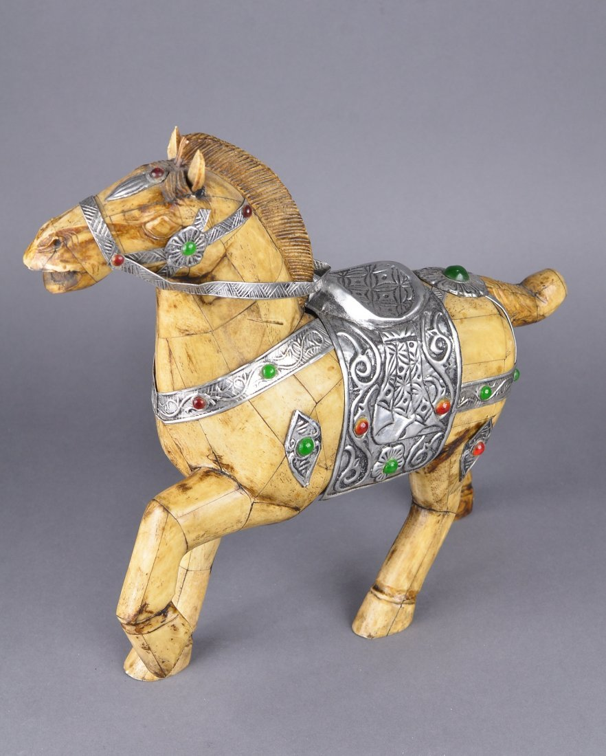 177: Chinese Bone Carved Model of Horse - 3