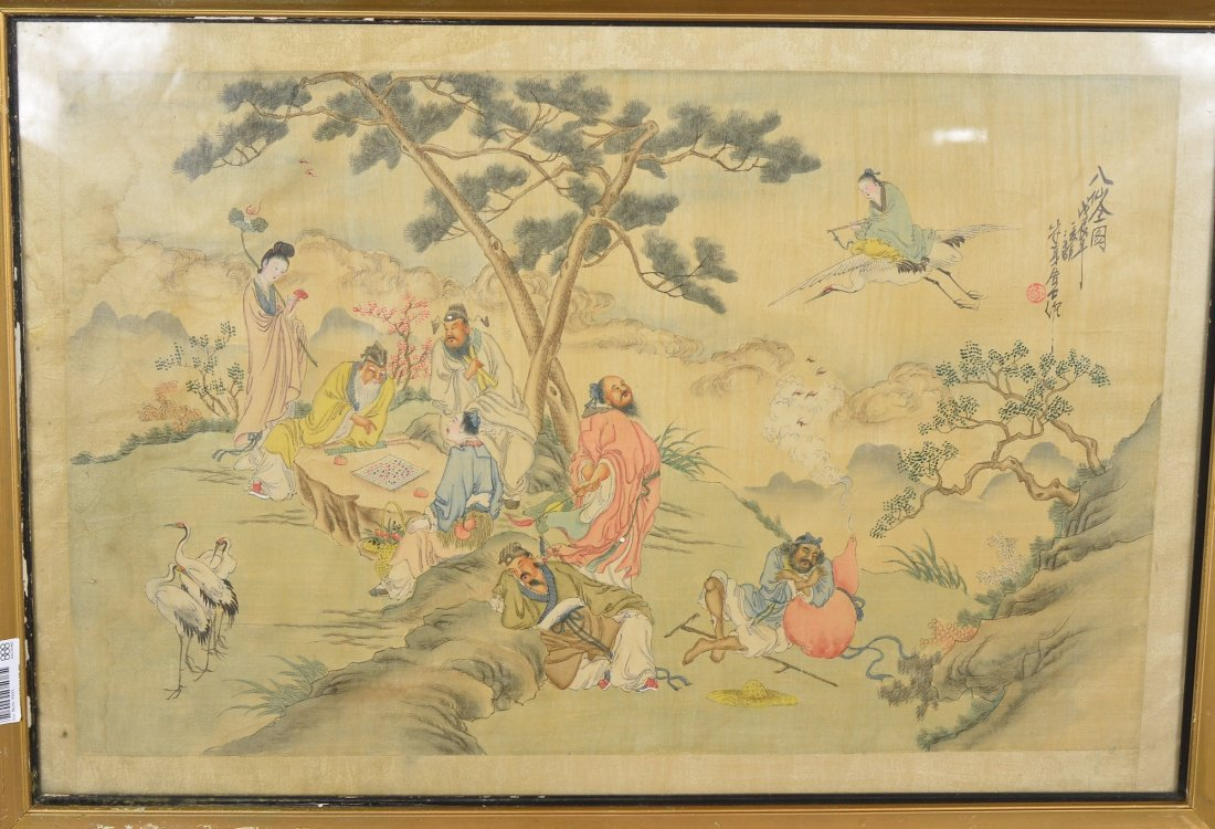 33: Chinese Qing Period Bu Shien Two Painting on Silk