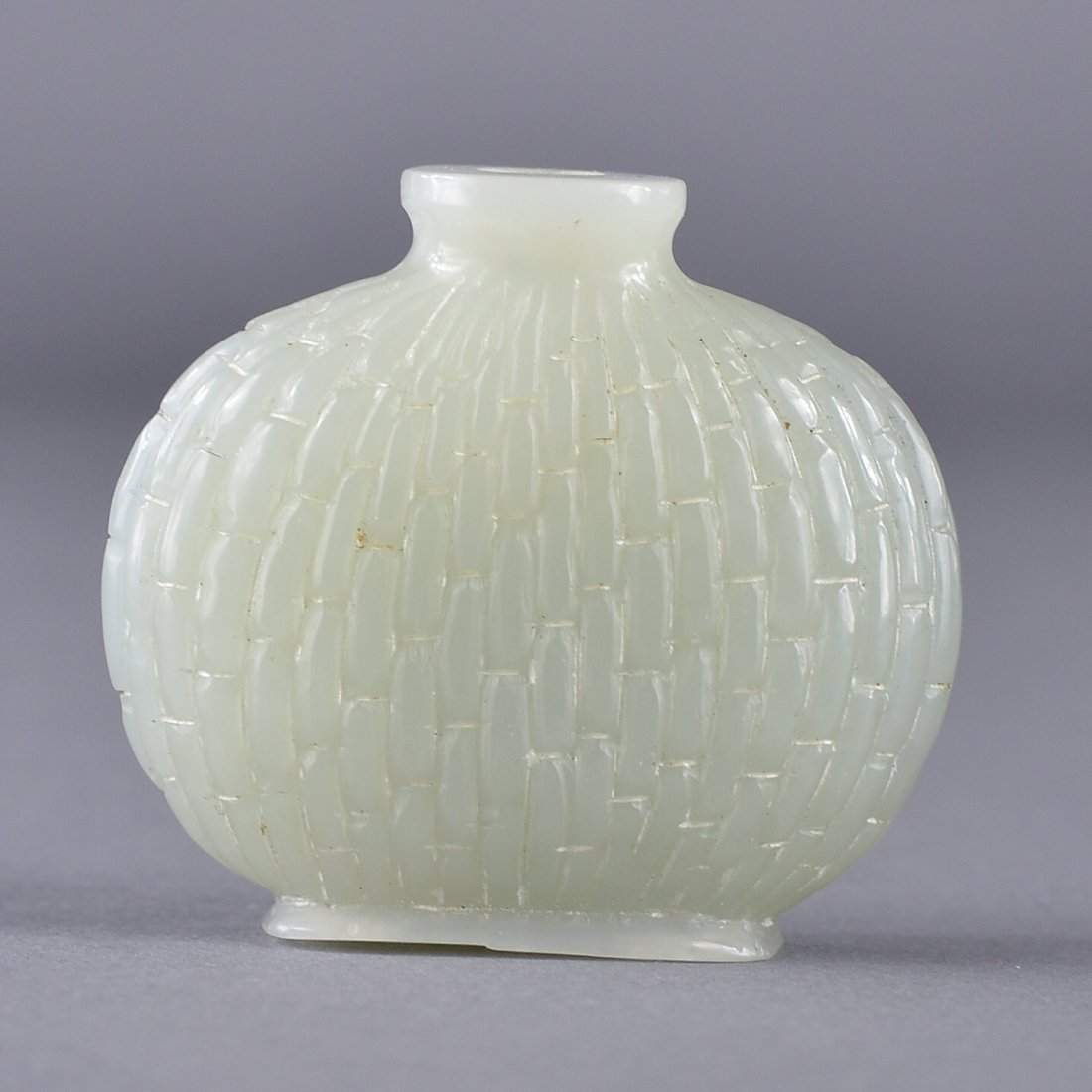 46: Chinese Carved White Jade Snuff Bottle