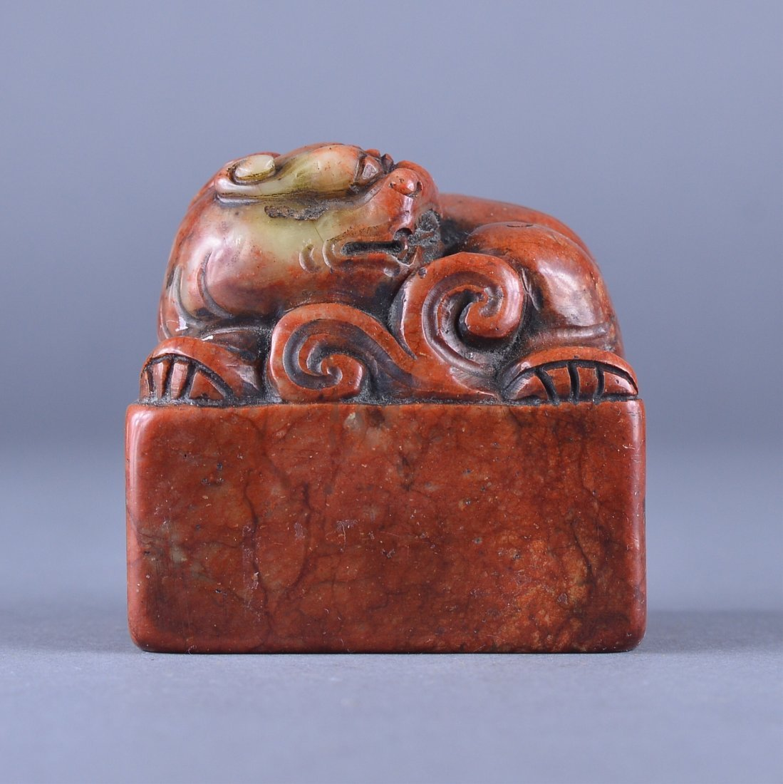 99: Chinese Red Shoushan Stone Carved Seal