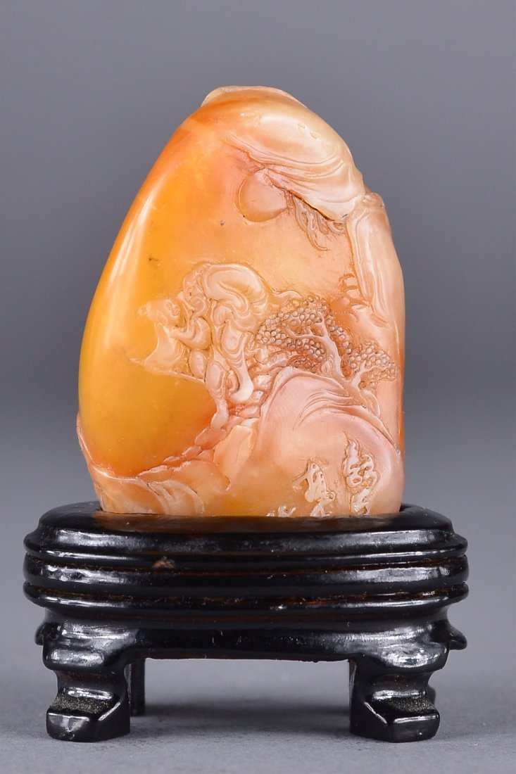 101: Chinese Carved Tianhuang Stone Pebble Boulder