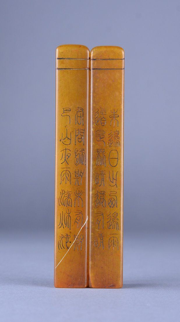 110: Pair of Tianhuang Stone Seals