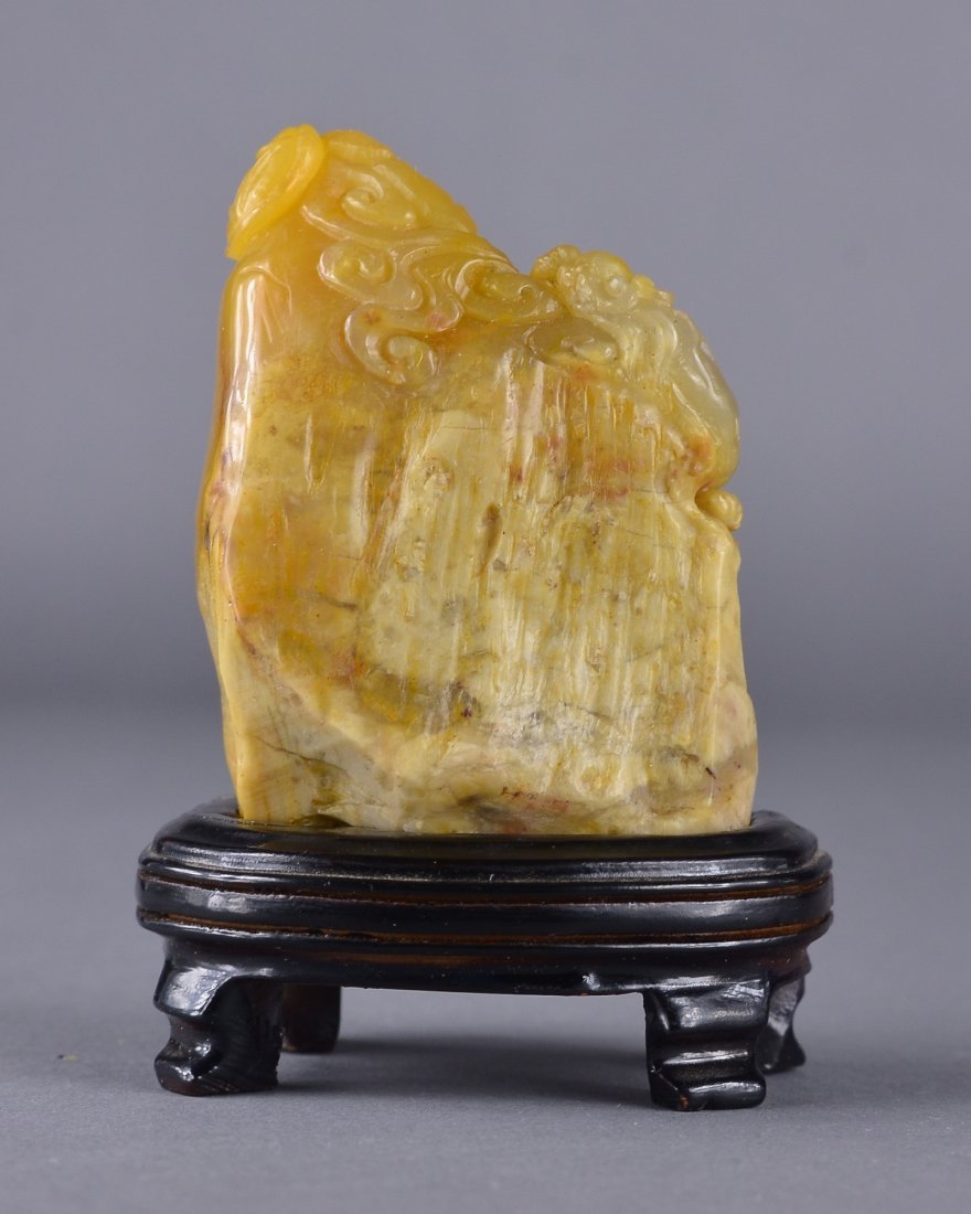 113: Chinese Carved Tianhuang Stone Seal Block