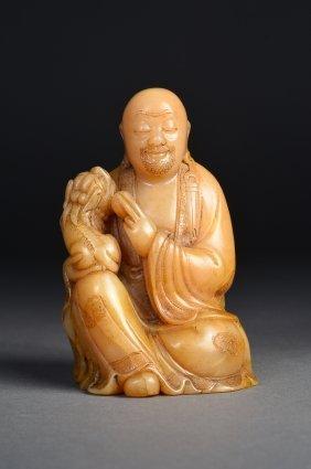 Chinese Carved Shoushan Buddha