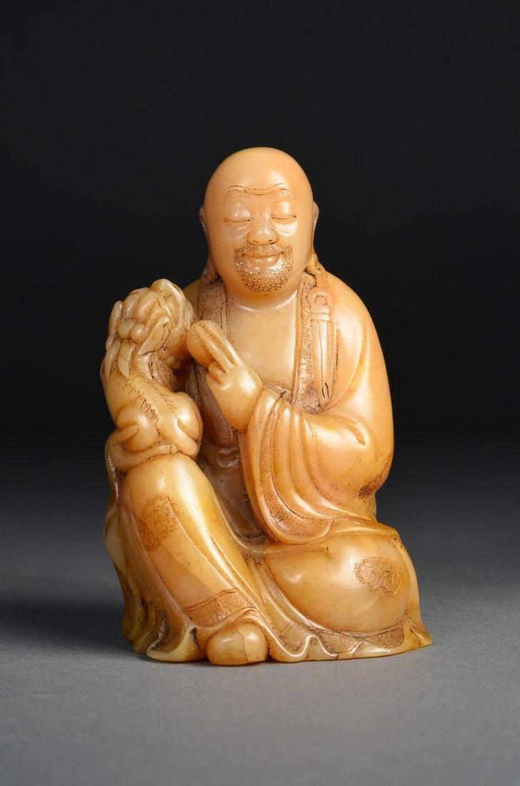 115: Chinese Carved Shoushan Buddha