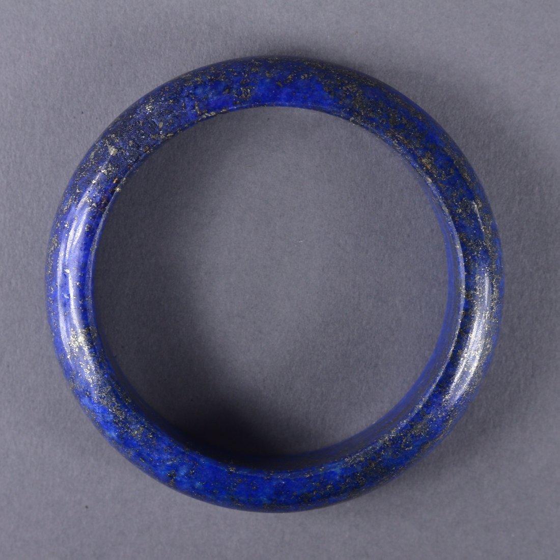 116: Chinese Carved Lapis Lazuli Bangle