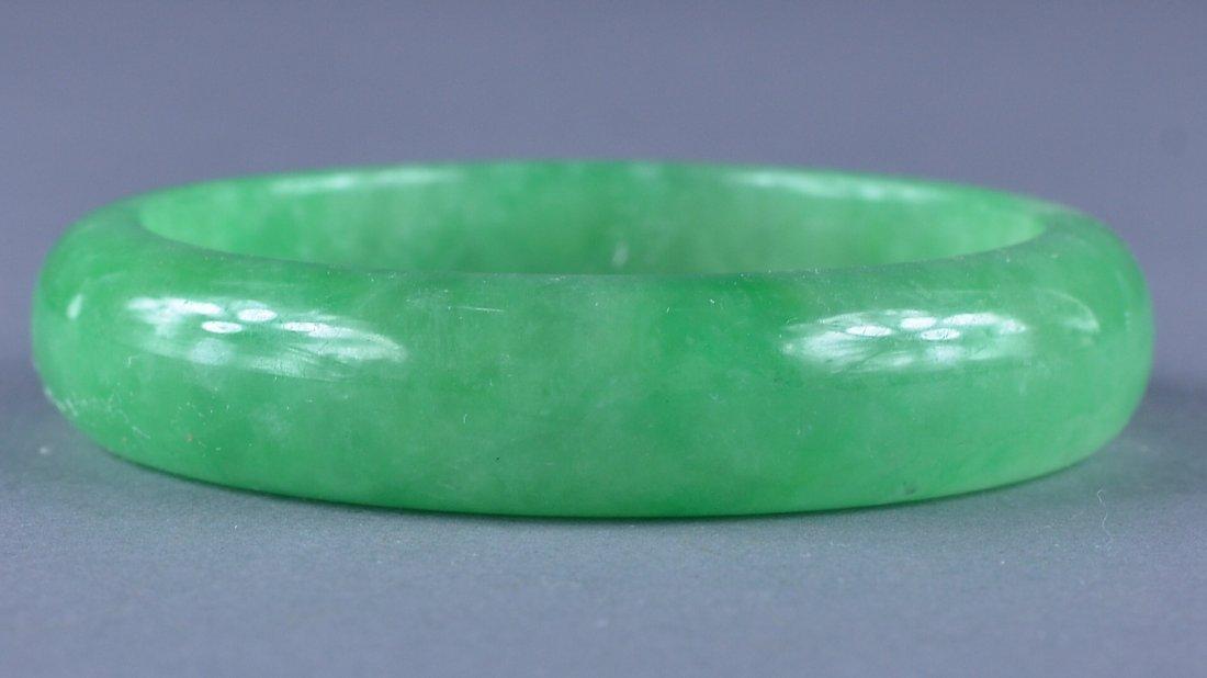 157: Chinese Carved Jadeite Bangle
