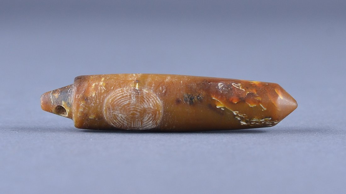 161: Chinese Liangzhu/Han Dynasty Carved Jade Pendant