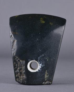 Archaic Chinese Liangzhu Culture Caved Jade Stone