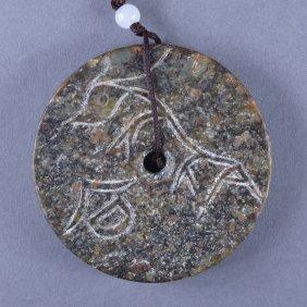 Archaic Chinese Han Dynasty Jade Pendant
