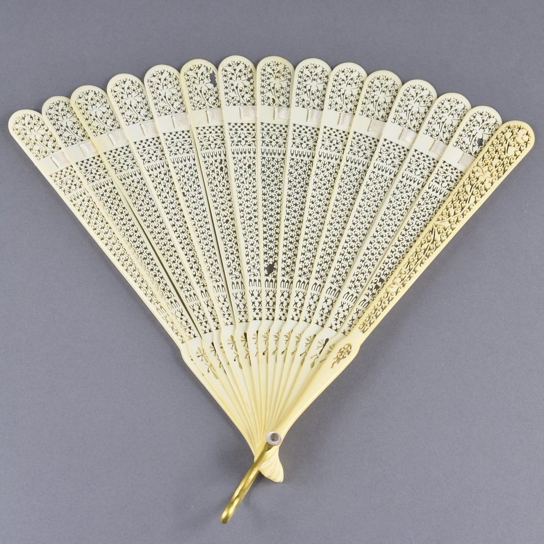 236: Chinese Ivory Carved Fan