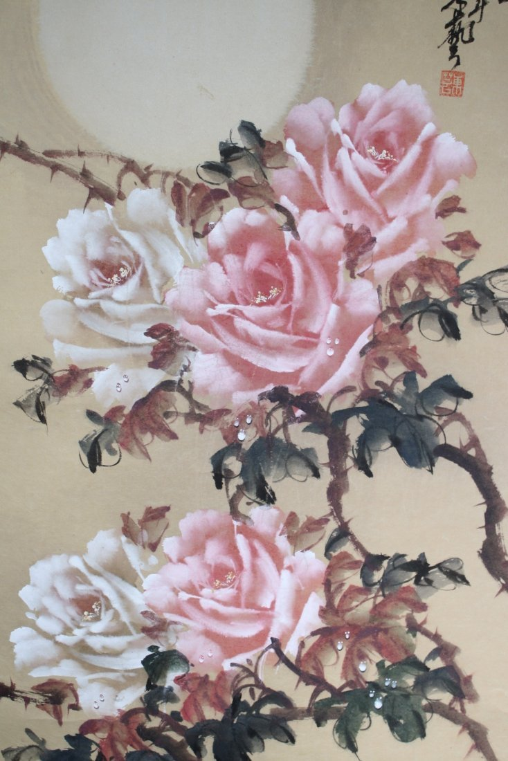 14: Chinese Watercolour Painting Hanging Scroll - 2