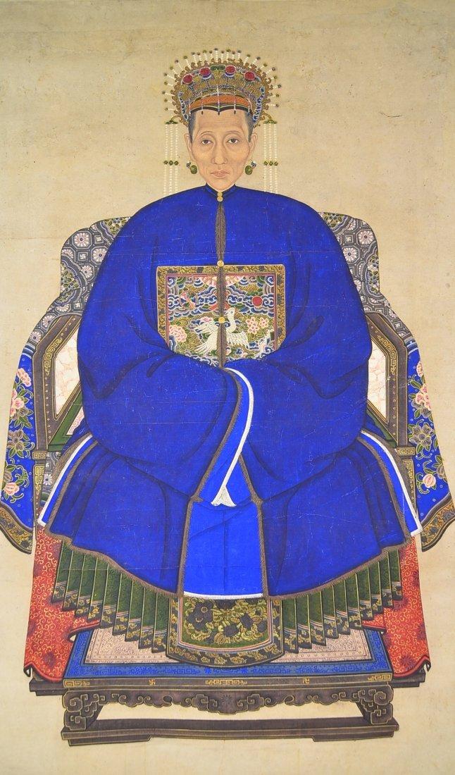 30: Qing Period Watercolour Portrait Painting - 2