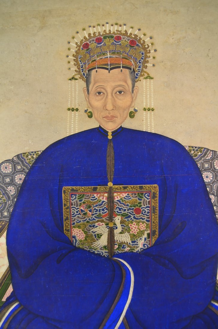 30: Qing Period Watercolour Portrait Painting - 3