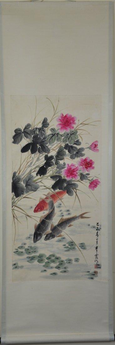 14: Whang Ah Chan Chinese Watercolour Painting Scroll