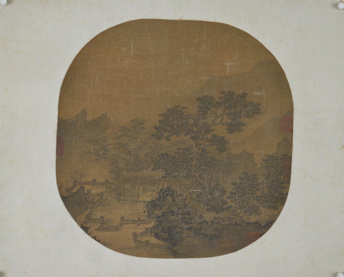 20: Chinese Watercolour Painting on Silk Possibly Ming