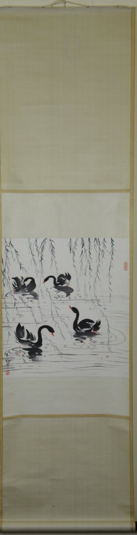 22: Chinese Watercolour Painting Hanging Scroll