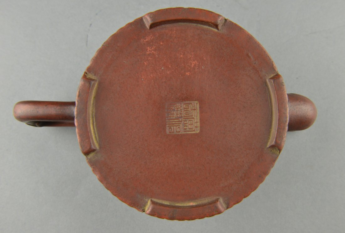 253: Antique Chinese Yixing Tea Pot Maker's Mark - 3