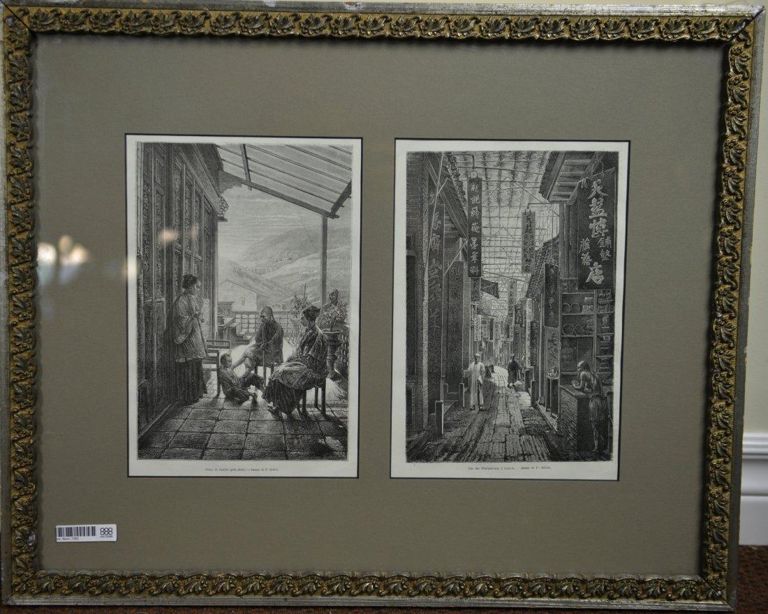 13: Two Rare Guangxu Original Prints of China 1875