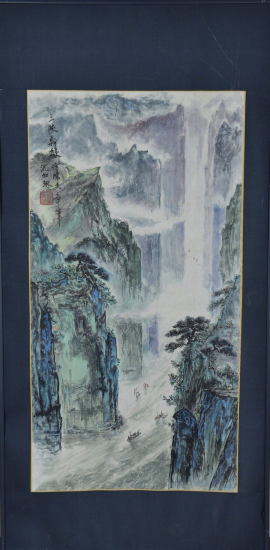 3: Framed Chinese Watercolour Painting on Paper