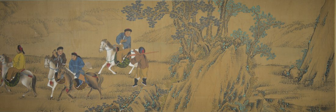 15: Chinese Painting Jin Ting Biao Gong 18th Century
