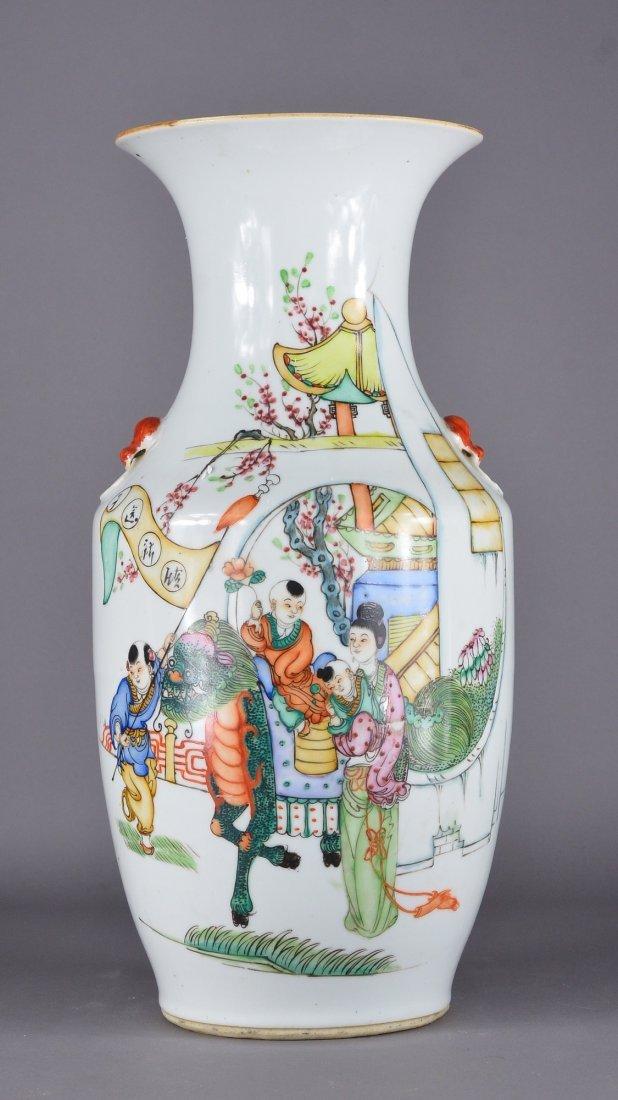 391: Chinese Republic Period Enameled Porcelain Vase