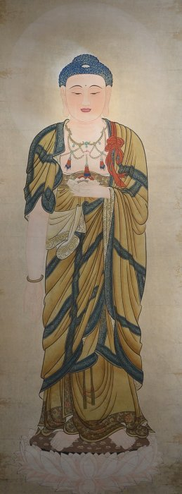 13: Chinese Watercolour on Paper: Guanyin