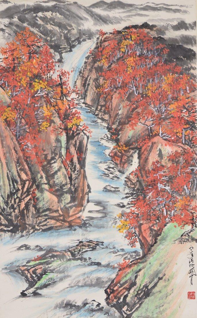 20: Guan Shan Yue Chinese Watercolour Hanging Scroll