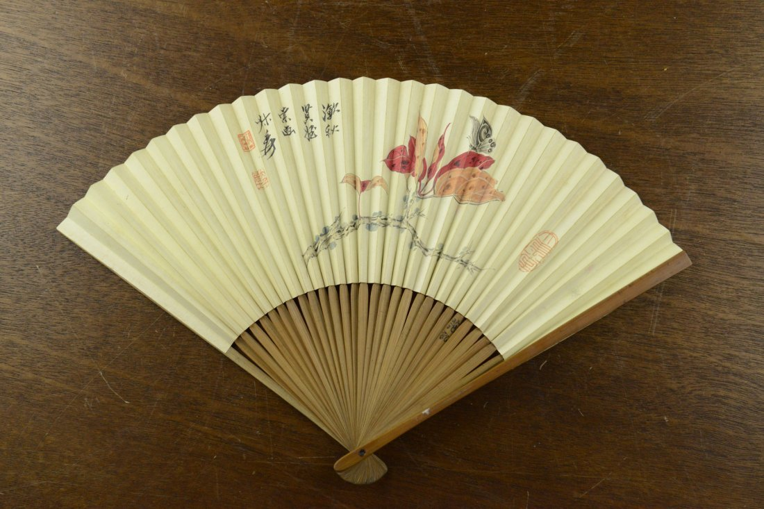 21: Chinese Watercolour Fan Painting by Zhang Da Qian