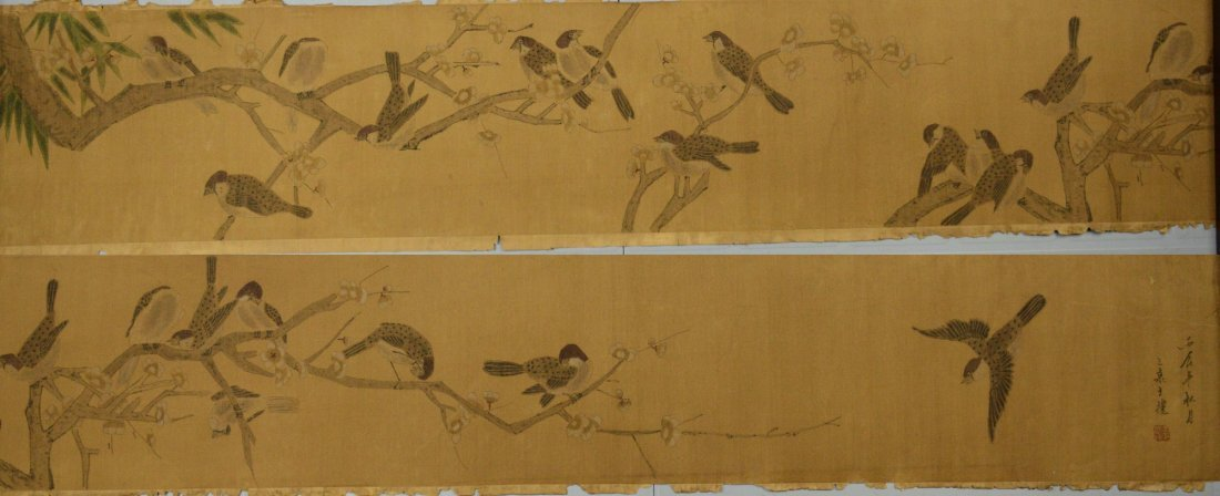 22: Chinese Watercolour Painting on Silk Quan Wang Li